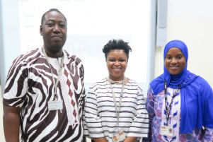The Quality team (Yai Louise Ndure-Bensouda, William Dei-Alorse and Hulay Sabally-Dondeh)