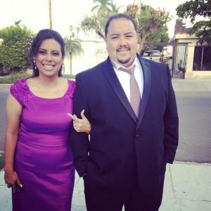Alma and I at Ayme wedding