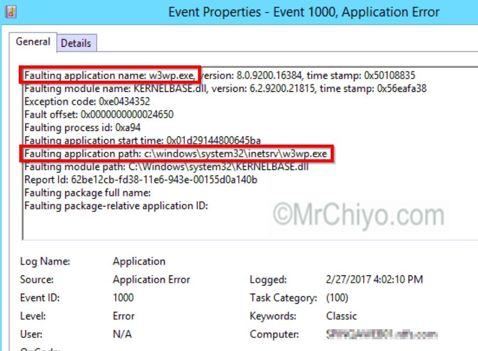 SCOM 2016 APM Linked to IIS Application Pool Failures