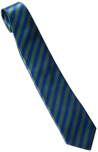 Roaring 20s Green and Blue Striped Tie - Mr. Costumes