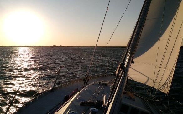 Sailing_Long_Island_Sound_benetau_first_sunset