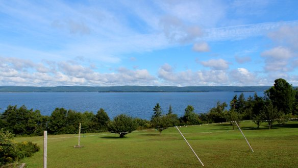 Our view of Bras d'Or Lake