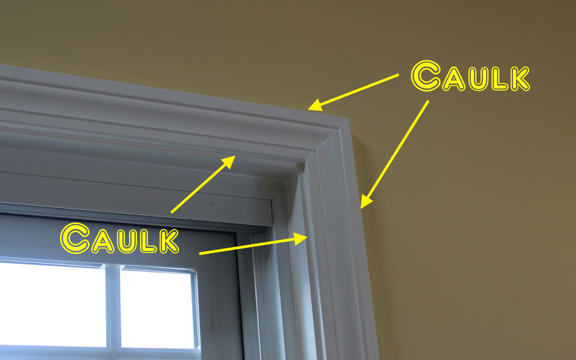 Caulk window and door trim mr crazy kicks - How to caulk exterior window trim ...