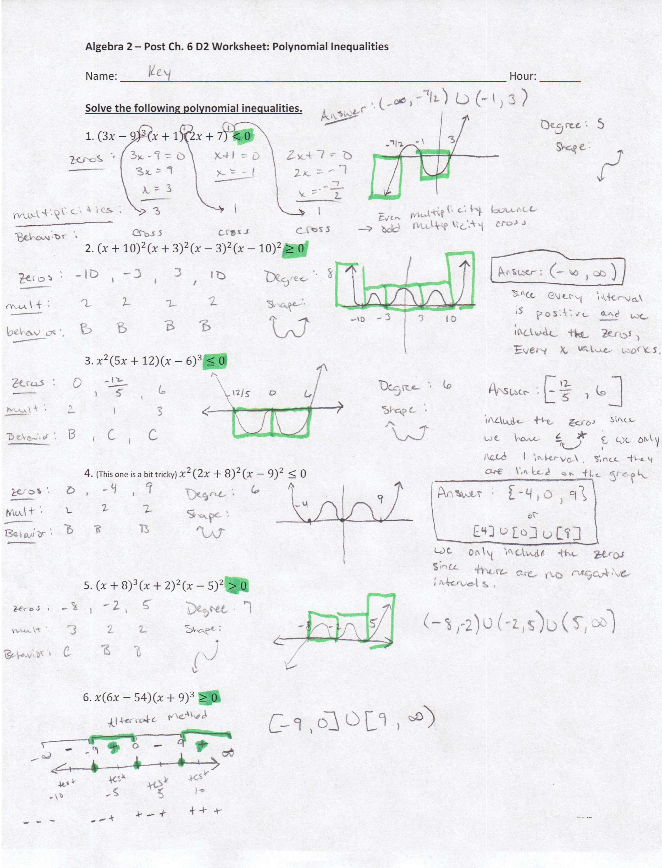 Algebra 2 S