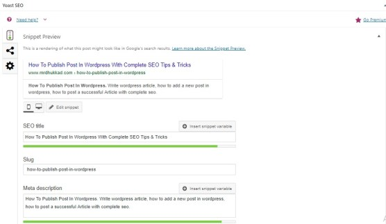 Edit Snippet Preview In WordPress