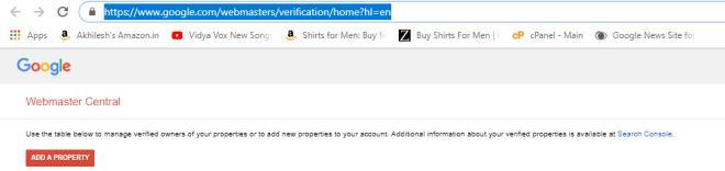 How To Verify Google Webmaster Tool