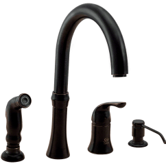 Four Hole Kitchen Faucets Corner Cabinet For 710 Abr Antique Bronze 4 Faucet