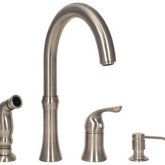 Four Hole Kitchen Faucets Menards In Stock Cabinets 710 Bn Faucet