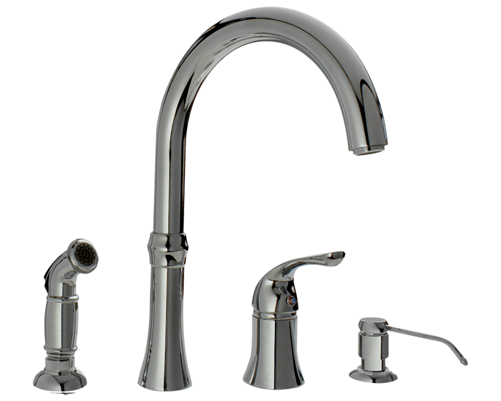 710C Chrome Four Hole Kitchen Faucet