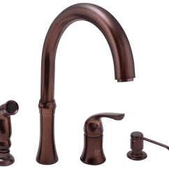 Four Hole Kitchen Faucets Home Remodeling 710-orb Oil Rubbed Bronze 4 Faucet