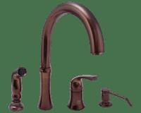 710-ORB Oil Rubbed Bronze 4 Hole Kitchen Faucet