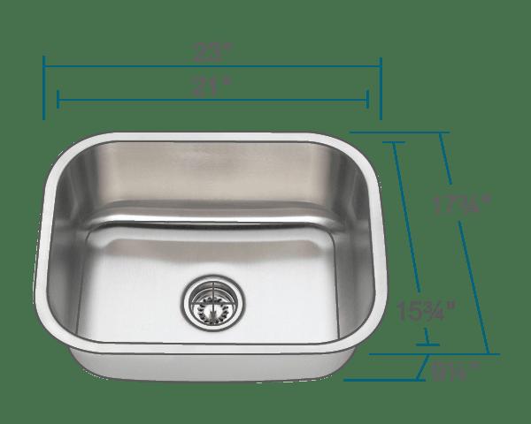 single bowl stainless kitchen sink refurbishing cabinets 2318 steel 4 96 89 reviews
