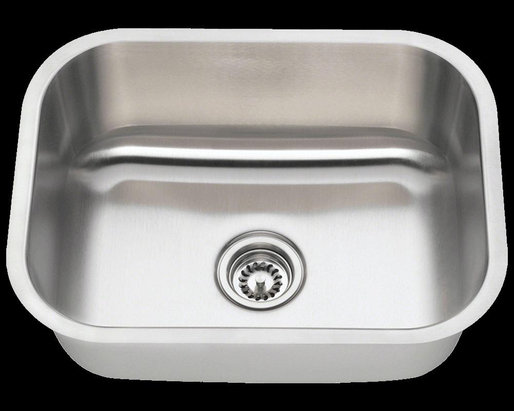 2318 single bowl stainless steel kitchen sink