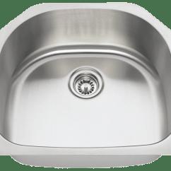 Single Bowl Stainless Kitchen Sink Island Hood 2421 D Steel
