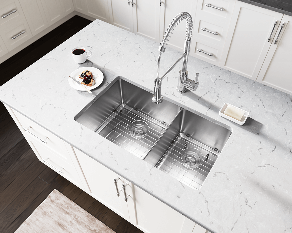 3160l double bowl 3 4 radius stainless steel sink