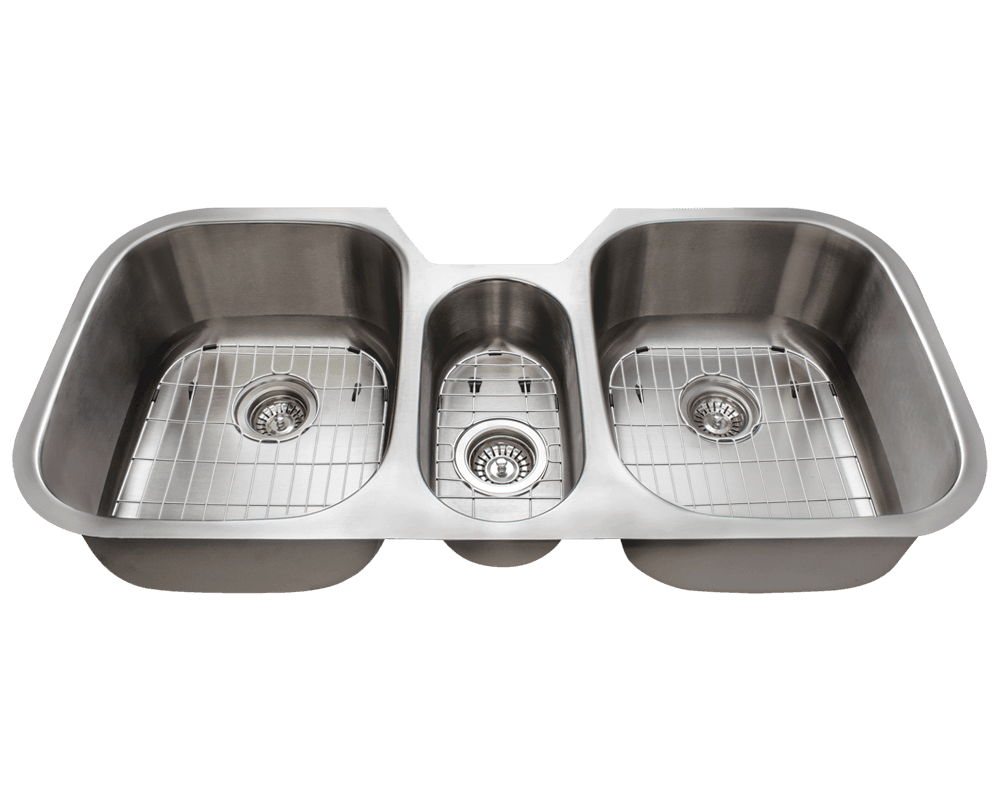 3 basin kitchen sink led ceiling lighting 4251 triple bowl stainless steel 4521