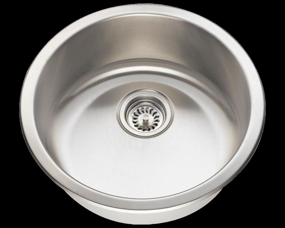 Round Undermount Bathroom Sink