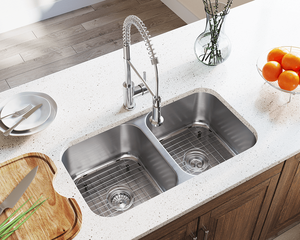 502a double bowl stainless steel kitchen sink