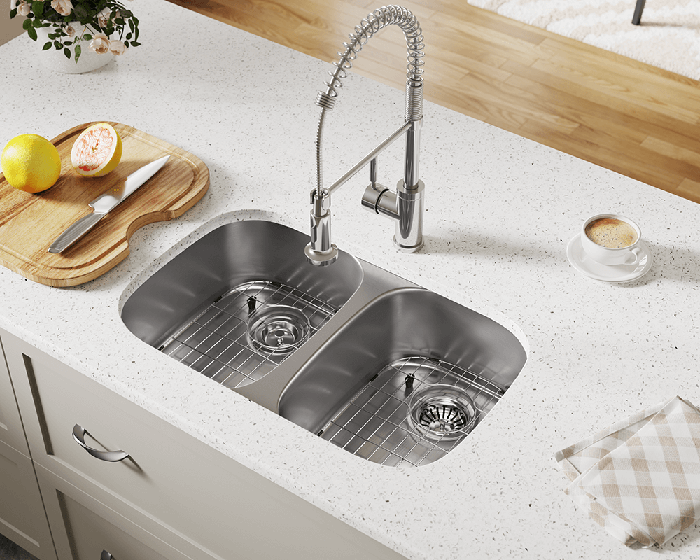 510 double bowl stainless steel sink