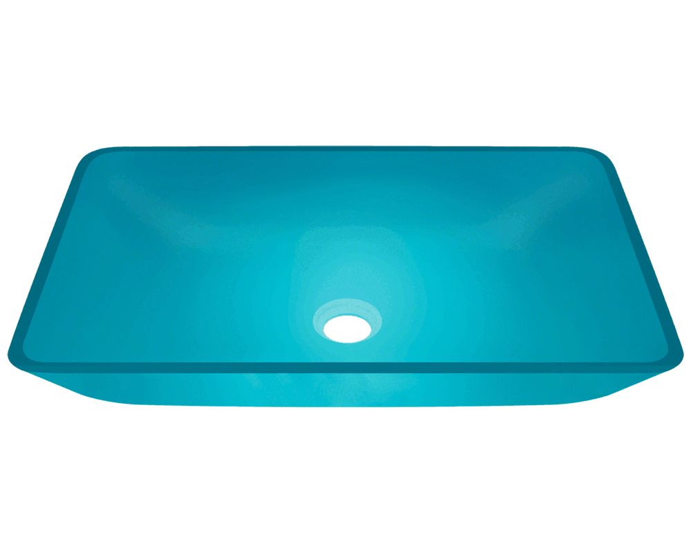 640 Turquoise Glass Vessel Sink