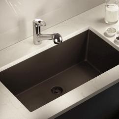 Undermount Single Bowl Kitchen Sink White 848 Mocha Large Trugranite