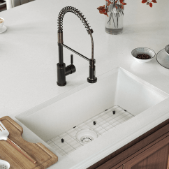 Kitchen Sink White Floor Rugs 848 Large Single Bowl Undermount Trugranite