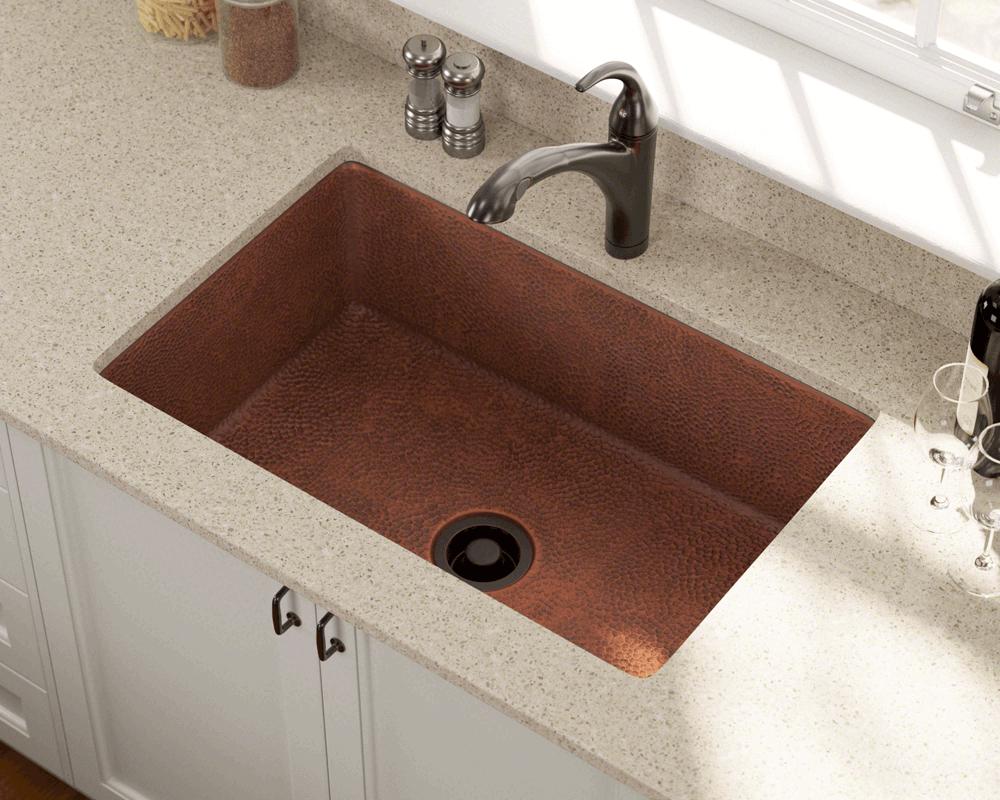 undermount single bowl kitchen sink black and white rug 903 copper