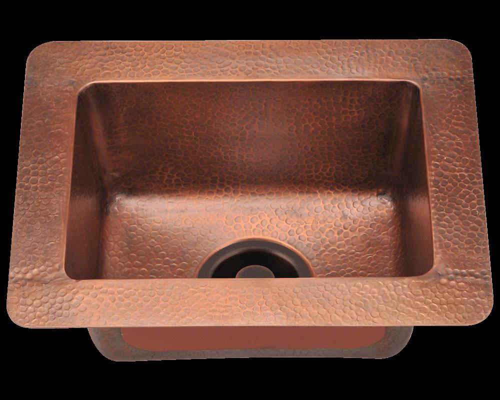 905 small single bowl copper sink