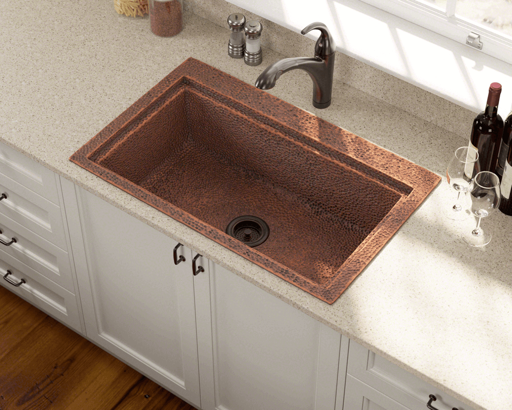 915 Single Bowl DualMount Copper Sink