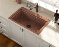915 Single Bowl Dual-Mount Copper Sink