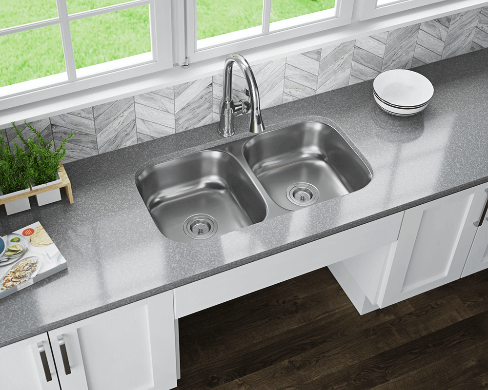 ada3218a double bowl stainless steel sink