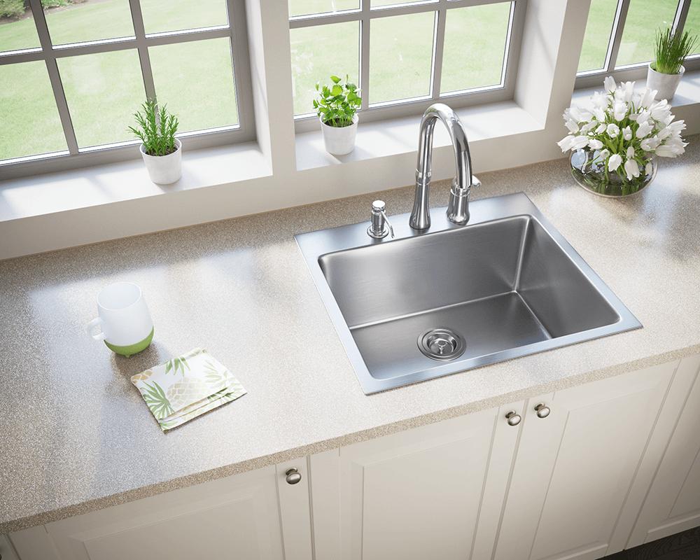 t1823 topmount stainless steel 3 4 radius sink