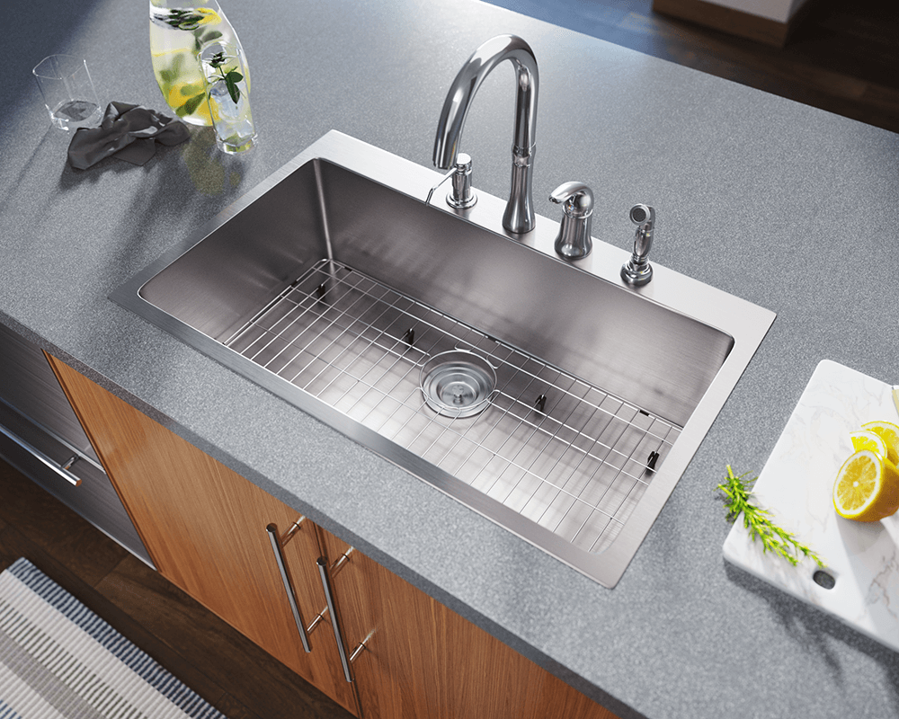 t3120s topmount 3 4 radius stainless steel sink