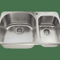 Single Bowl Cast Iron Kitchen Sink Island Ideas T3121l Topmount Offset Stainless Steel