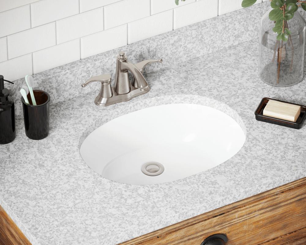 UPLWhite White Porcelain Bathroom Sink