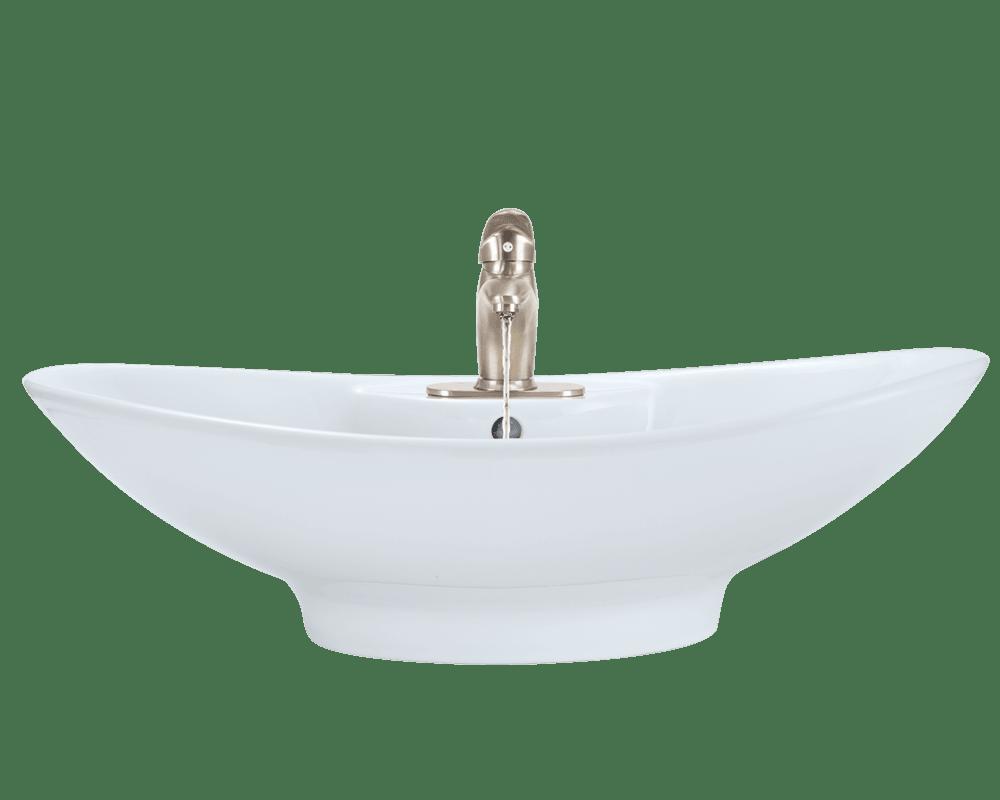 v2102 white porcelain vessel sink
