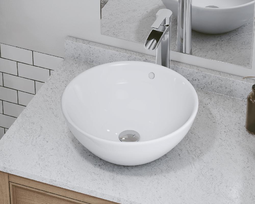 v2200 white porcelain vessel sink