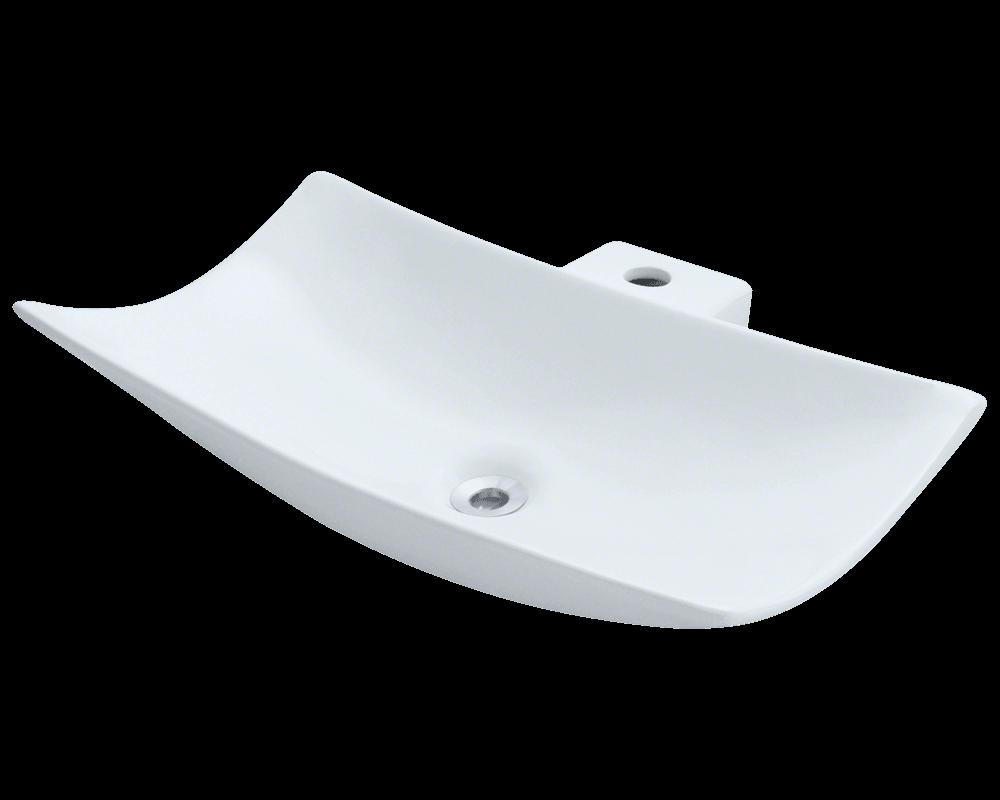 v240 white porcelain vessel sink