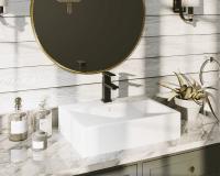 V2502-White Porcelain Vessel Sink