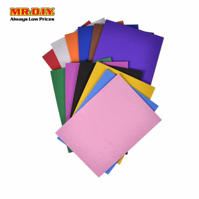 Mr Diy Multicolour Craft Foam Sheet 12pcs Mr Diy