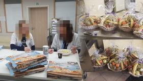 افاق للتضامن والتنمية ببروكسيل تزود موظفي القطاع الطبي بوجبات عشاء عرفانا وامتنانا لهم