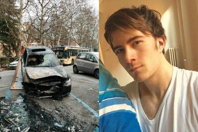 sole auto bruciata vip new1 638x425 - Ecco cosa è successo alla macchina di Francesco Sole