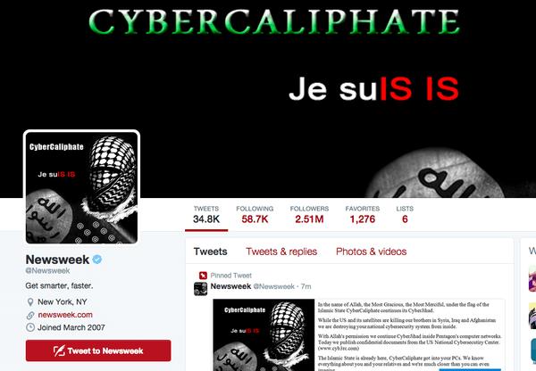 N01433 - Hacker dell'Isis attacca il Twitter di Newsweek: Minacce alla famiglia Obama