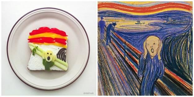 Opere d'arte fatte con i Toast