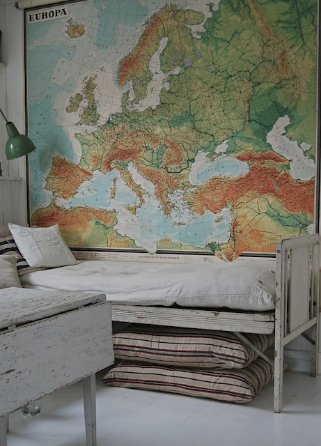 MrFox-white-painted-bed-map-wall