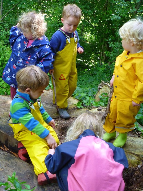 Swedish children play outdoors