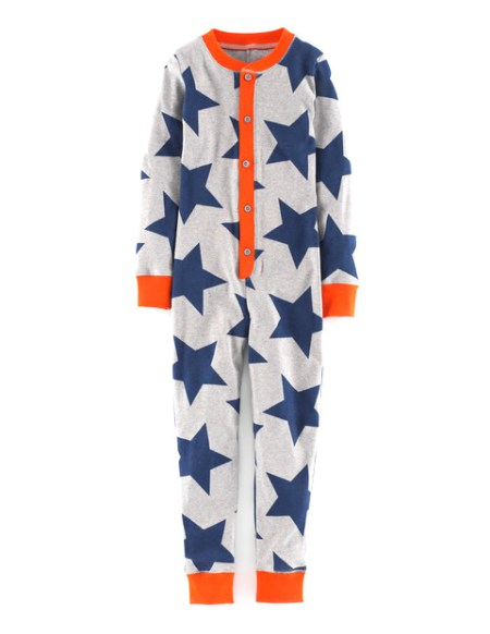 Boden Star Print All-in-One Pyjamas