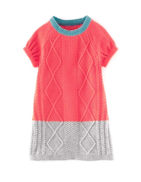 Boden girls colourblock jumper dress