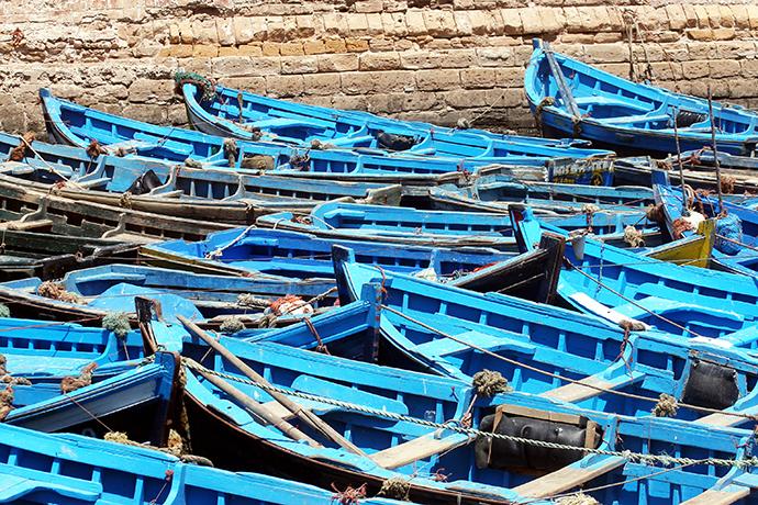 Boats in Essaouira