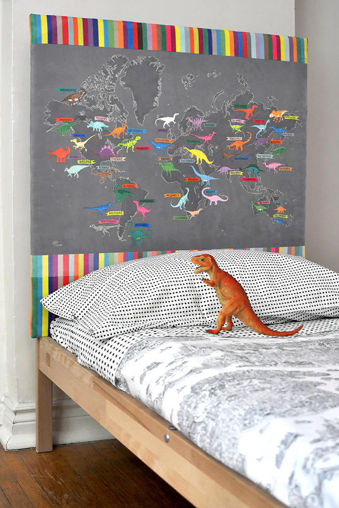 Spoonflower Blog Dino headboard